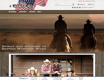 Better Western Wear JTL Shop4 Design von NMB-Media
